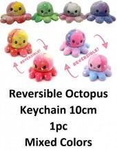 Z-C2.2 KY2109-001 Reversible Octopus Keychain 10cm - Star - 1pc