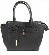X-O5.1 BAG121-002 Luxury PU Bag Black 42x27cm