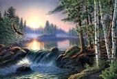 X249 Diamond Painting Set Forest-Lake 40x30cm