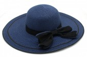 Q-H2.2  HAT315-002 Hat with Bow Blue