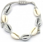 C-A7.4 B2001-032 Bracelet with Shells Silver-Grey