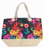 Y-C2.1 BAG528-014 Beach Bag Flowers 36x52cm