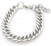 B-D3.1 B126-006S Stainless Steel Chain Bracelet Silver
