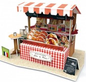 G-D19.1 W3174H 3D Puzzle Bakery and Caffee Stall France - 32pcs