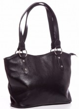 Q-B2.2 BAG-553 Leather Bag 40x28x11cm Black
