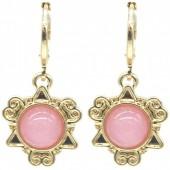 D-B19.5 E532-001G FantasD-B19.5 E532-001G Fantasy Earrings Pink-Goldy Earrings Pink-Gold