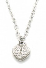 E-A23.1 N2121-013S S. Steel Necklace with 8mm Heart Silver
