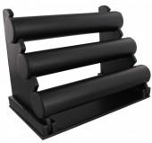 Y-B3.1  Display 3 Layers 32x23x17cm Black PU