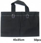 X-P1.1  Deluxe Plastic Bags 50pcs Black 45x35cm