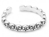 G-E16.4 SR104-095 925S Silver Ring Adjustable Stars