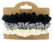 D-E23.1H016-005 Elastics Set 3pcs White-Grey-Black