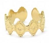 D-C9.1  R2033-007G S. Steel Ring Adjustable Gold