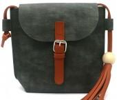 Y-F1.2 BAG535-002C PU Crossbody Bag with Tassel 20x18x6.5cm Green
