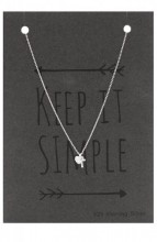 B-E3.3 SN104-016 Necklace 925 Sterling Silver with Cross and Heart