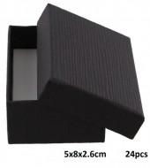 Y-A5.1 Giftbox for Pendant-Ring-Earrings 5x8x2.6cm Black 24pcs
