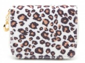X-D7.2 WA321-002 Small Wallet with Leopard Print White