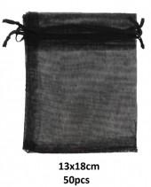 S-K2.2.  Black Organza Gift Bag 13x18cm - 50pcs