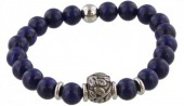 B-D3.2 S. Steel Bracelet with Semi Precious Stones Blue