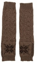 L-E4.2 Hand and Arm Warmers with Crystals Brown