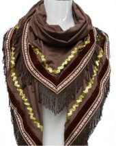 K-B5.3 Suedine Scarve with Golden Details 200x75cm