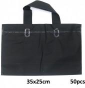 R-H4.1  Deluxe Plastic Bags 50pcs Black 35x25cm