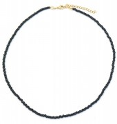 D-F1.1 N2061-001G Necklace with Glass Beads Black