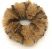 S-G5.1  H414-003 Scrunchie Fluffy Animal Print