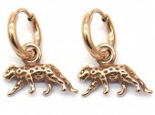 B-E6.3 E2011-004RG S. Steel 10mm Earring with 17mm Leopard Rose Gold