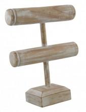 Q-L4.1 50003 Display Wood 2 layers 28x20cm White