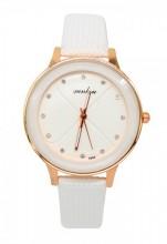 E-E2.1 WA001-014 Quartz Watch with PU Strap 35mm White