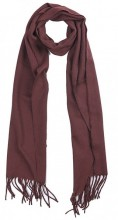 T-O7.1  SCARF406-002D Scarf with Fringes 170x31cm Brown