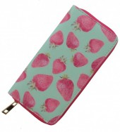 Wallet with Strawberries 19x10cm