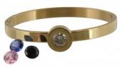 I-D9.1  Stainless Steel Gold B004-036 Interchangeable Diamonds