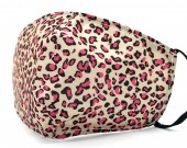 G-C17.2 FM042-SKA509 - Cotton Fashion Mask with Room for Filter Washable - Leopard Pink