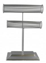 Z-E1.1  PK328-008 Metal Bracelet Display Silver 22x30x10cm