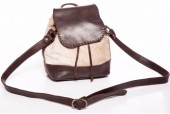 T-I1.1 Leather Cross Body Bag with Cowhide 21x23x9cm Mixed Colors