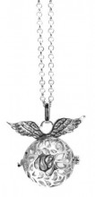 F-D7.1 Angel Catcher with Wings Silver 20mm