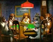 Y-A2.3 GM0002 Diamond Painting Set Poker Dogs 50x40cm
