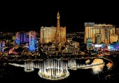 R-C6.2 Scratch Painting - Las Vegas  - 40x28cm