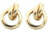 B-D2.1 E2019-013G Metal Earrings 20mm Gold