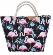 Z-A2.1 BAG185-004B Beach Bag Flamingos