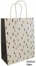 Q-M7.2  PK525-007A Paper Giftbag 27x21cm Black 12pcs