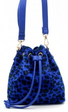Q-K4.2  BAG202-009 PU Bag with Leopard Print 19x18x10cm Blue