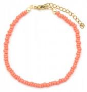A-B9.1 B2061-001H Bracelet with Glass Beads Pink