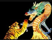 T-H3.1 S824  Diamond Painting Set Tiger-Dragon 50x40cm