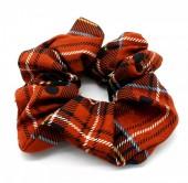 S-E2.4  H002-011 Srunchie Checkered Orange