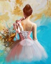 T-J6.1 RSB8361 Diamond Painting Set Ballet 50x40cm