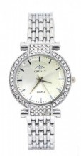 WA203-004 Quartz Watch Metal with Crystals Silver