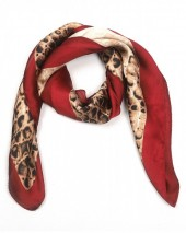 S-B4.3 S301-001G Scarf Silky Feel 70x70cm Brown-Red Snake