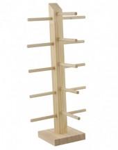 R-L4.1 PK522-012 Wooden Sunglass Display for 5pcs 36.5x10.5x9.5cm